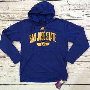 San Jose State Adidas hoodie pullover NWT